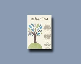 Bar Mitzvah Gift, Bat Mitzvah Gift, Personalized Jewish gift, Jewish Gift, Jewish Keepsake, Jewish Print