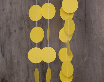 Paper garland bunting, wedding garland decor, circle garland, party home decor, nursery banner, nursery garland, photo backdrops pink yellow