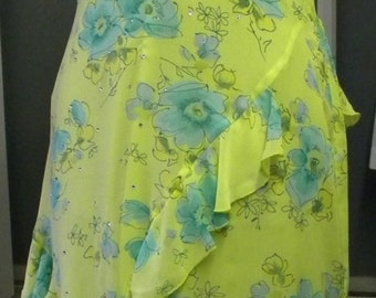 Flowing Silk Couture Art Nouveau Silk Dress
