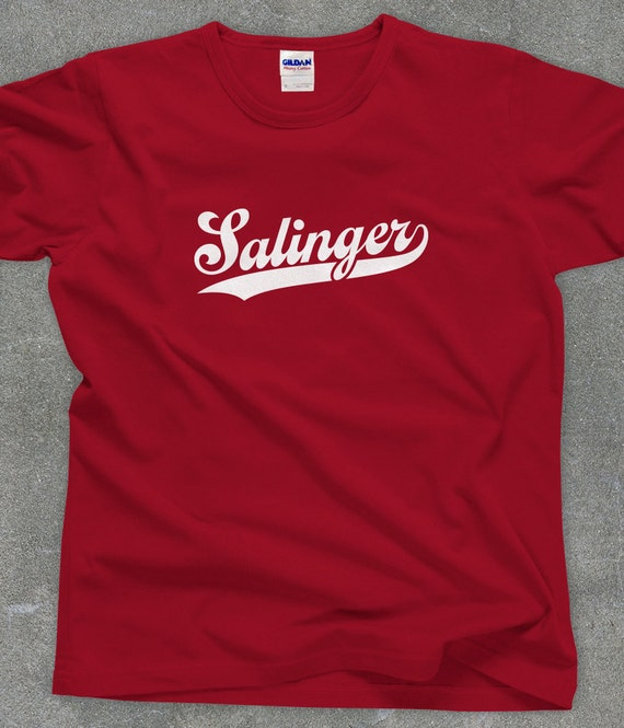 J.D. Salinger fan literary tshirt unisex men's women's Catcher in the Rye - You Choose Color
