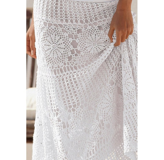 Free Download Crochet Skirt Pattern : Crochet maxi skirt PATTERN detailed TUTORIAL for every row