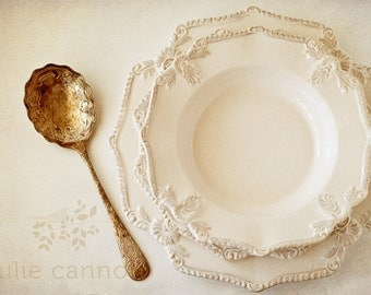French Provincial Photography - Dining Room Decor - Kitchen Photograph - Wall Art - Vintage Silverware Photograph - Home Decor - Kitchen Art