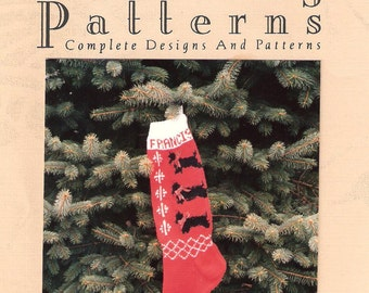 Christmas Stocking Pattern,  Scottie Dog