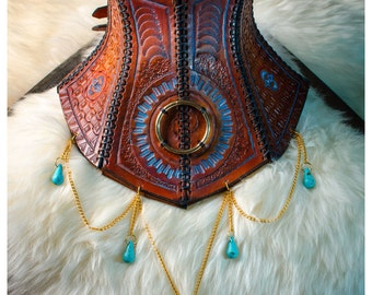 Made to order - Leather Neck Corset Posture Collar