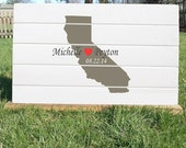State Map Wedding Guestbook - Wooden guest book - Map Wedding guest book - Weddings - Custom Maps - Wedding guestbook Map - Guest Books