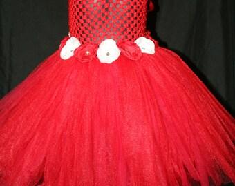 Red and White Tutu Dress, Tutu Dress, Red Tutu Dress, Christmas Tutu Dress, Tutu Dress