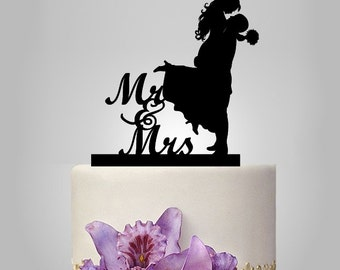 Wedding Cake Toppers Clipart : bride and groom silhouette wedding cake topper, monogram ...