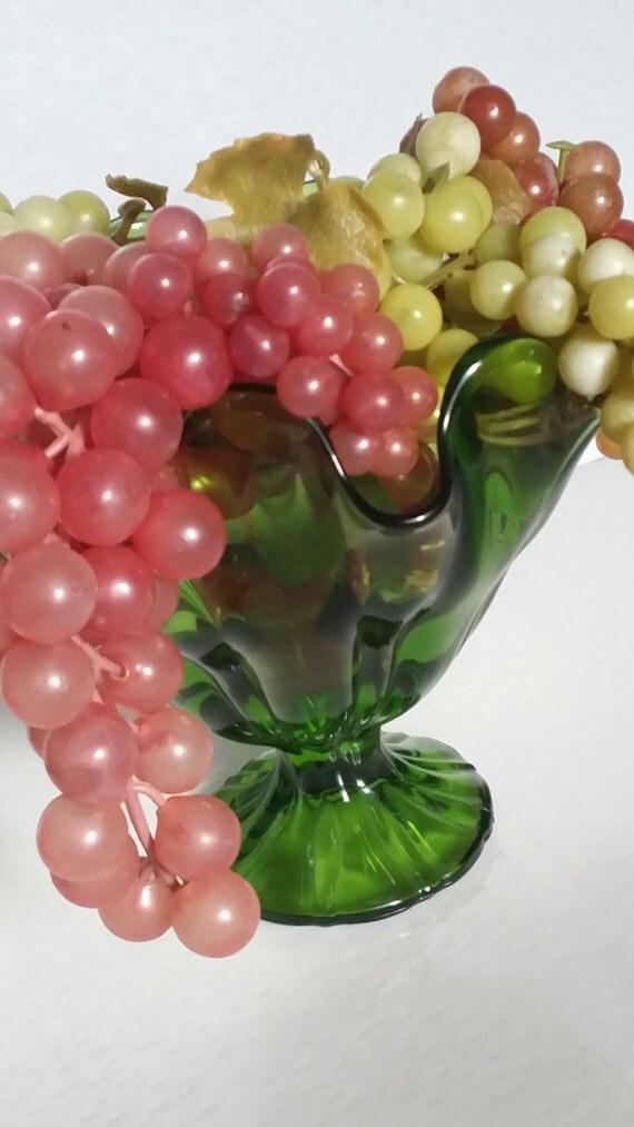 Vintage Grape Clusters Rubber Grape Four Bunches Plastic Fruit