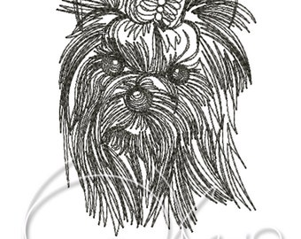 MACHINE EMBROIDERY FILE - Yorkshire Terrier