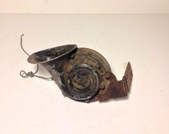 Antique Car Horn Sparton Trumpet Shaped. Automotive Home Decor Music.  **ON SALE**