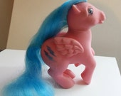 My Little Pony vintage Firefly 1983 G1 Earh Ponies retro girl TV cartoon 1980 80s horse kid TV cartoon gift sale  flat foot  pink blue