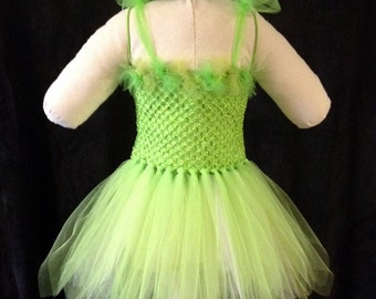 Green Fairy, Tinkerbell Inspired Tutu Costume