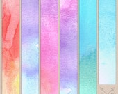 Distressed Rough Bright Watercolor Digital Paper pack. Great for scrapbooking, card making, paper crafting, blog backgrounds, graphic design