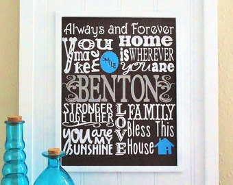 Always and Forever Personalized Family Canvas