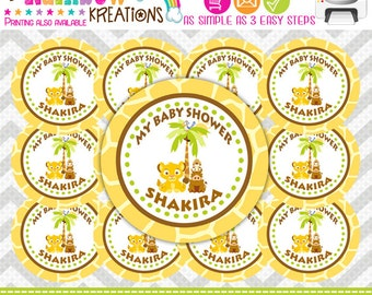 FVTAGS-640: DIY - King Of The Jungle Favor Tags Or Stickers