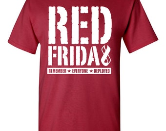 Red Friday - Remember Everyone Deployed. Military Appreciation tshirt. army love tshirt. red friday tee. red friday clothes. TH-088 for sale  Delivered anywhere in Canada