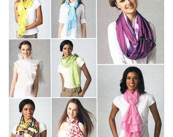Simplicity 2170 Sewing Pattern Scarves Used