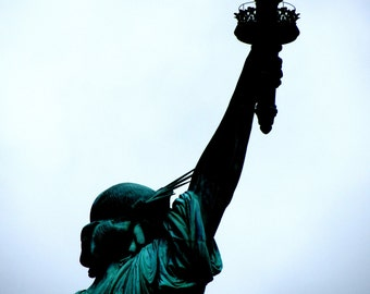 Statue of Liberty New York Photograph / Travel Photography / Home Decor / Wall Art / fpoe / blue / green / 4th of July