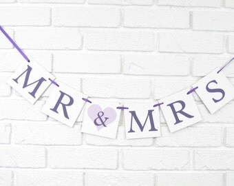 Mr and Mrs banner, bridal shower banner, bride and groom banner,bride & groom sign,wedding photo prop,mr and mrs chair banner,wedding banner
