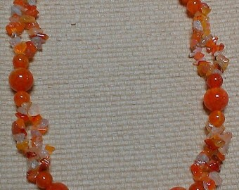 fire: fire & red crackle agate beads with red agate chips