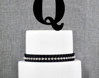 Letter Q - Initial Cake Topper, Monogram Wedding Cake Topper, Custom Cake Topper