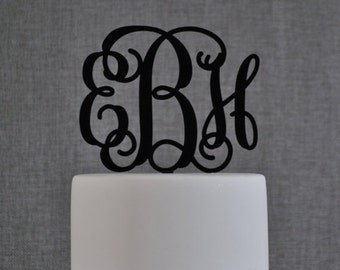 wedding cake topper monogram initials initial wedding cake topper etsy 26358