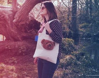 Unique handmade canvas bag HUG a BAG #4