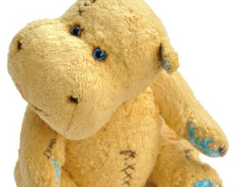 Artist Teddy Bear hippo Pattern - hippo digital pattern - teddy bear hippo epattern Hippo Bill 9.9'' (25 cm)