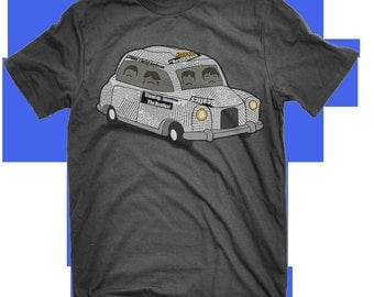 The Beatles T-shirt Newspaper Taxi Lucy In The Sky With Diamonds Sgt Pepper