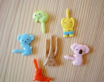 Cute Animals and Folklore Cupcake Topper & Food Decoration Picks from Japan Bento