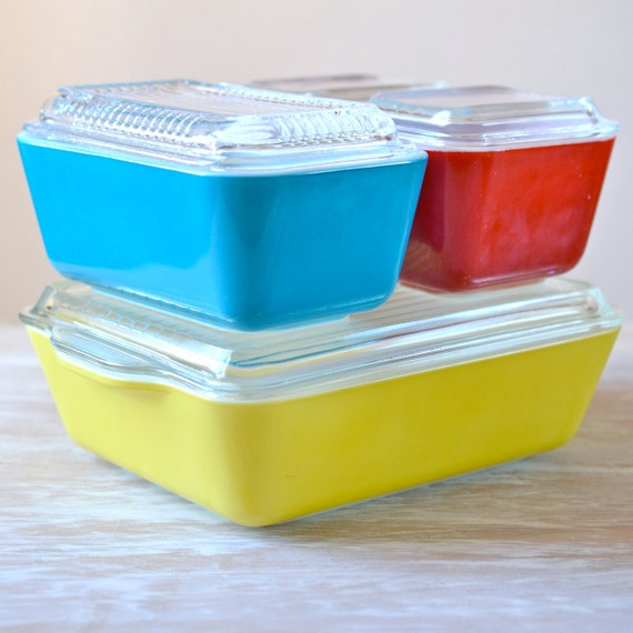 Pyrex Primary Refrigerator Set Baking Amp Serving Dishes W