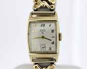 Elgin Deluxe Wristwatch 10K Goldfilled with Scissor style Band
