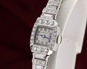 Hamilton Platinum and Diamond Encrusted Wrist Watch