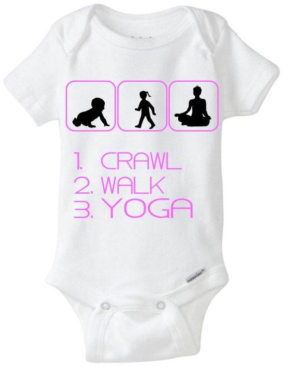 Baby Gifts Yoga : Crawl walk yoga new baby gift gerber onesie brand bodysuit