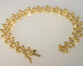 14k Yellow Gold and Diamond Bracelet 2.05 Carats with    free ship.       m104224.