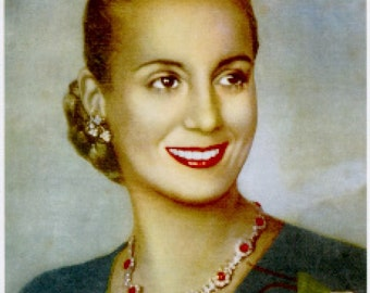 "Eva ""Evita"" Peron Cross Stitch Pattern - Color Chart- DMC Floss Chart - World Series: Argentina First Lady - Just Print and Start Stitching!"
