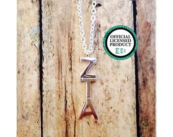 Zeta Tau Alpha Letter Necklace | Sorority Necklace | Sorority Lavalier | Zeta Tau Alpha Lavalier | Zeta Tau Alpha Necklace | Zeta | ZTA