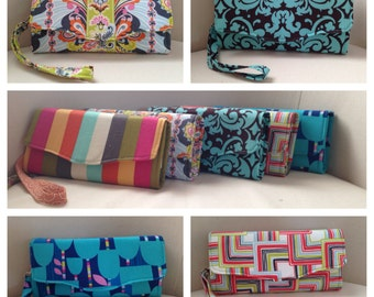 CUSTOM: Favorite Clutch Wallet - Fabric of Your Choice - Necessary Clutch Wallet