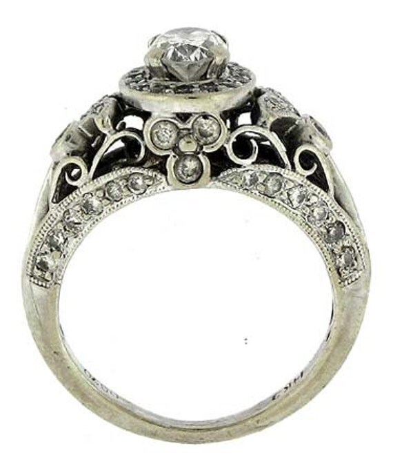 Engagement Ring And Wedding Band Set Beautiful Vintage Style