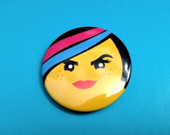 Wyldstyle Pinback Button (from Lego Movie)