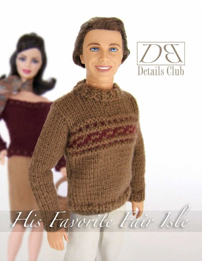 Free Knitting Patterns For Barbie And Ken Dolls : Knitting pattern for 12 doll Ken: His Favorite Fair