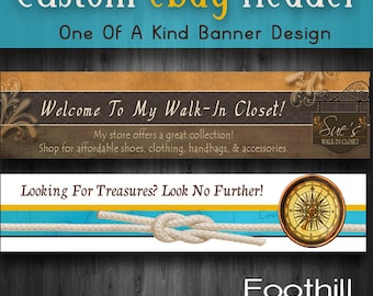 Custom Ebay Store Banner - Website Header - Match Store Colors- Match Logo - Graphic Design Services - Attract More Users to Ebay Store