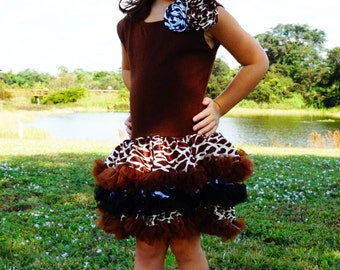Animal Print Party Dress