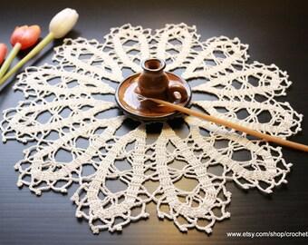 Crochet Doilie, Bruges Crochet, Table Centerpiece, Handmade Crochet Lace Doilies, Ecru Lace Table Cloth, Cyprus Crochet, Ready To Ship