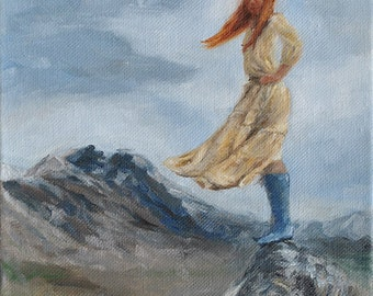 Original Oil Painting: Conquering Mountains