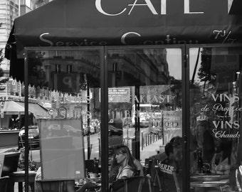 Paris Photography, Paris Photo, French Decor, Paris Decor, Black and White, Cafe