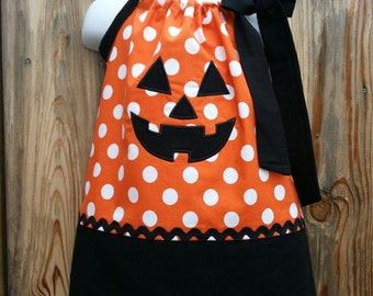Happy Jack-O-Lantern Pillowcase Dress