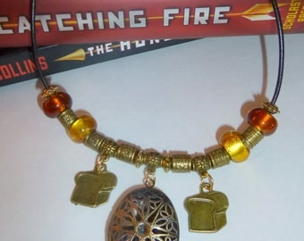 Scented Essential Oil Necklace Inspired by Peeta from the Hunger Games