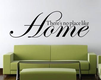 Thereu0027s No Place Like Home Wizard Of Oz Wall Decal New Quote Vinyl Sticker  Home Decor Pictures