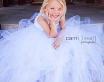 READY TO SHIP White Tutu Flower Girl Dress, White Flower Girl Dress, White Dress, White Weddings